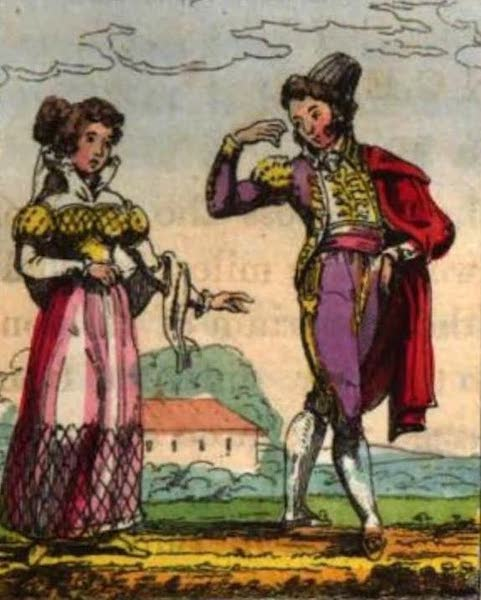 Cosmorama : A View of the Costumes and Peculiarities of all Nations - Spainards (1827)
