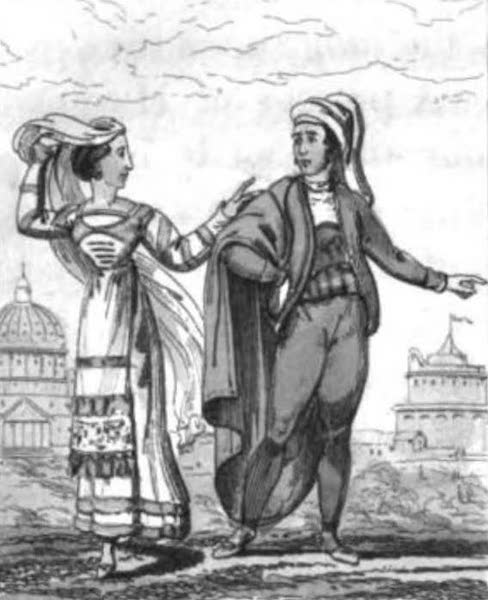 Cosmorama : A View of the Costumes and Peculiarities of all Nations - Italians (1827)