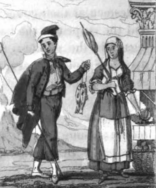 Cosmorama : A View of the Costumes and Peculiarities of all Nations - Neapolitans (1827)