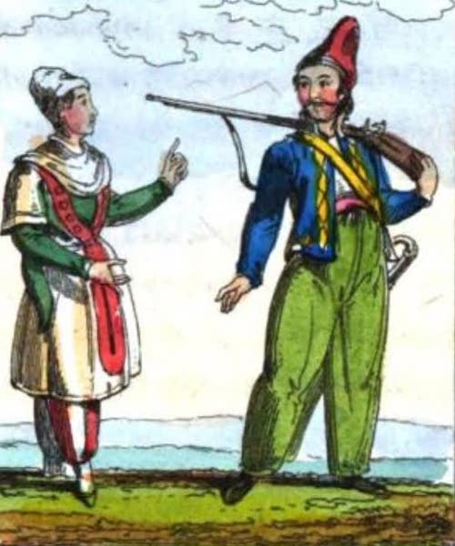 Cosmorama : A View of the Costumes and Peculiarities of all Nations - Albanians or Arnauts (1827)