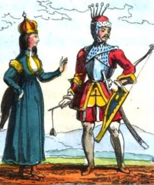 Cosmorama : A View of the Costumes and Peculiarities of all Nations - Circassians (1827)