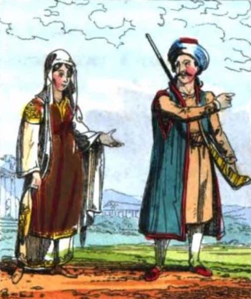 Cosmorama : A View of the Costumes and Peculiarities of all Nations - Greeks (1827)