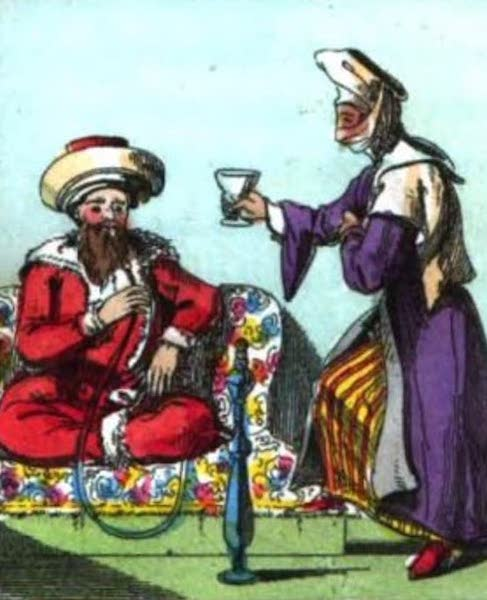 Cosmorama : A View of the Costumes and Peculiarities of all Nations - A Turk and His Wife (1827)