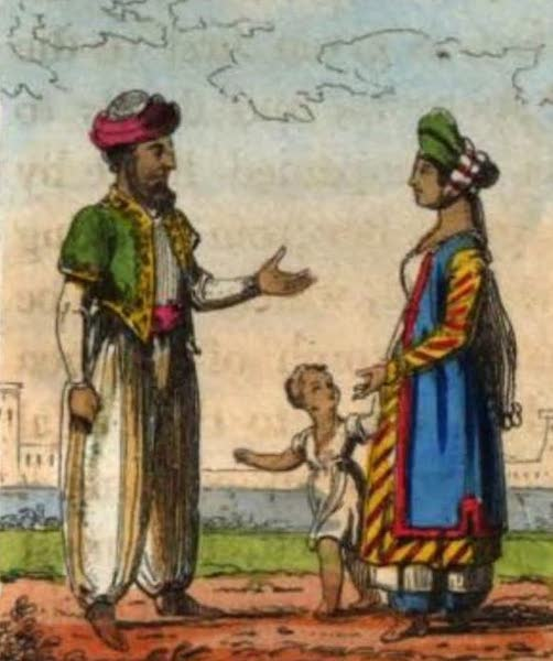 Cosmorama : A View of the Costumes and Peculiarities of all Nations - Inhabitants of Aleppo (1827)