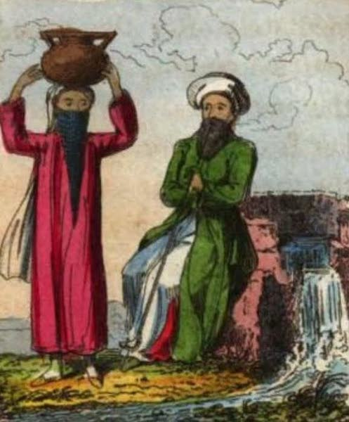 Cosmorama : A View of the Costumes and Peculiarities of all Nations - Man and Woman of Cana in Galilee (1827)