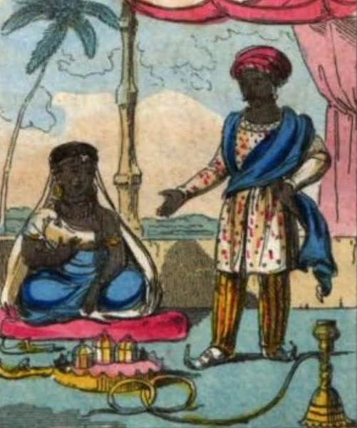 Cosmorama : A View of the Costumes and Peculiarities of all Nations - East Indians of Distinction (1827)