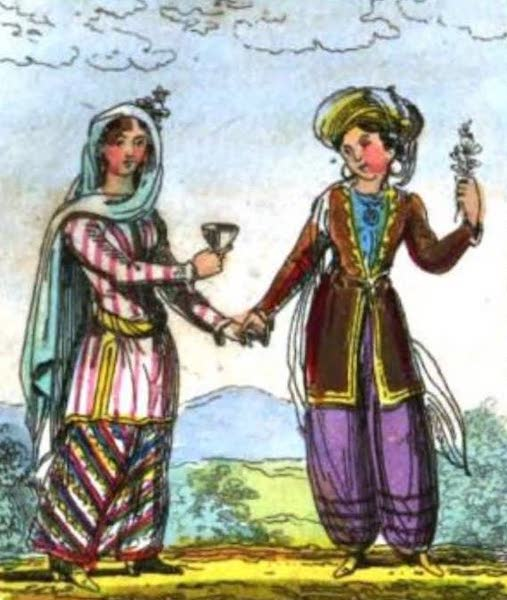 Cosmorama : A View of the Costumes and Peculiarities of all Nations - Persian Ladies (1827)