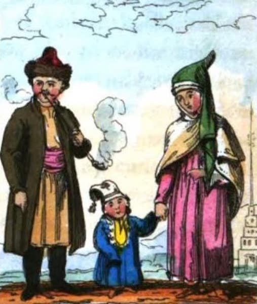 Cosmorama : A View of the Costumes and Peculiarities of all Nations - Tatars or Tartars (1827)