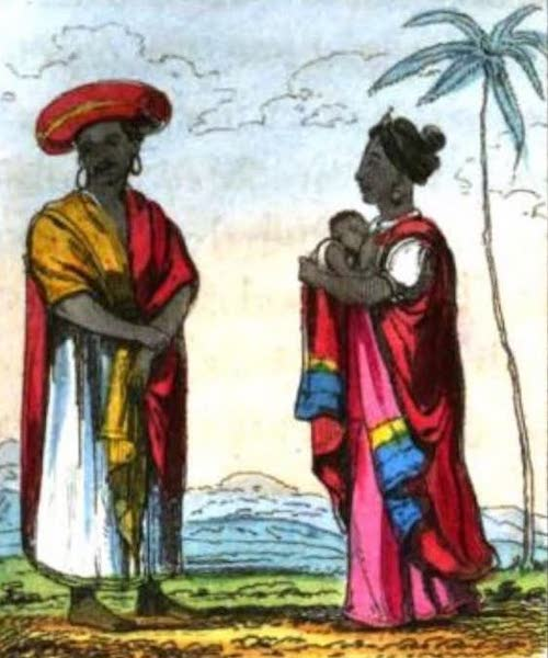 Cosmorama : A View of the Costumes and Peculiarities of all Nations - Ceylonese or Cingalese (1827)