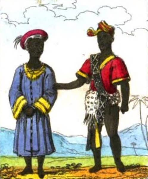 Cosmorama : A View of the Costumes and Peculiarities of all Nations - Birmese Man and Woman (1827)