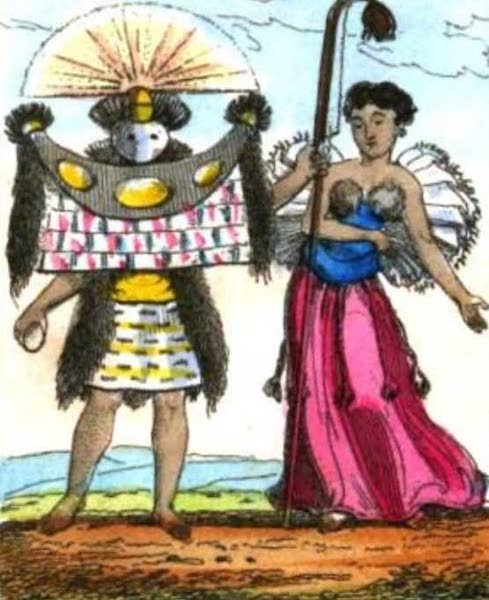 Cosmorama : A View of the Costumes and Peculiarities of all Nations - Taheitans (1827)