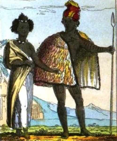 Cosmorama : A View of the Costumes and Peculiarities of all Nations - Sandwich Islanders (1827)