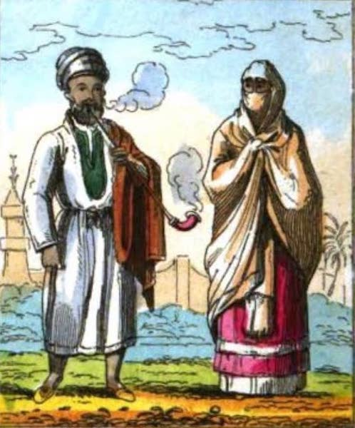 Cosmorama : A View of the Costumes and Peculiarities of all Nations - Egyptian Merchant and Lady (1827)