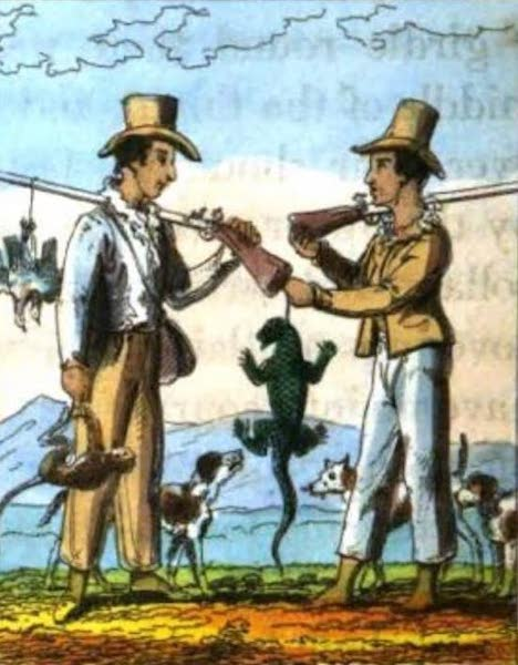 Cosmorama : A View of the Costumes and Peculiarities of all Nations - Brazilian Hunters (1827)
