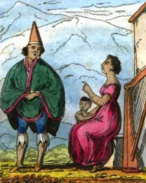Cosmorama : A View of the Costumes and Peculiarities of all Nations - Chilese (1827)