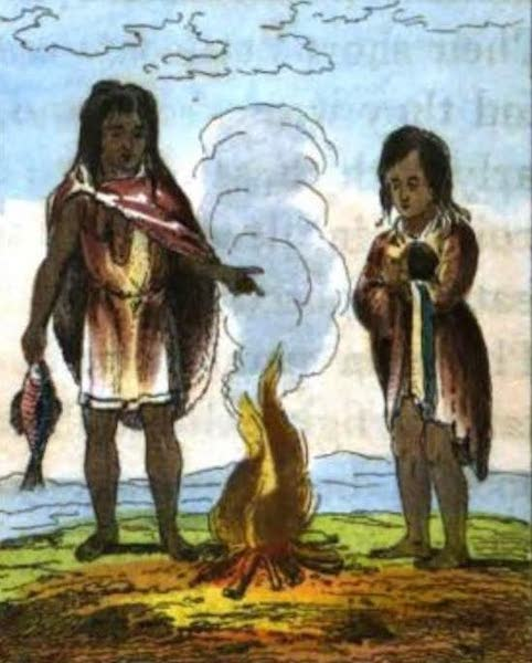 Cosmorama : A View of the Costumes and Peculiarities of all Nations - Natives of Terra Del Fuego (1827)