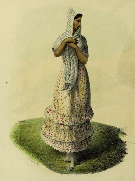 Costumes Civils, Militaires et Religieux du Mexique - Jeune Ouvriere (1828)