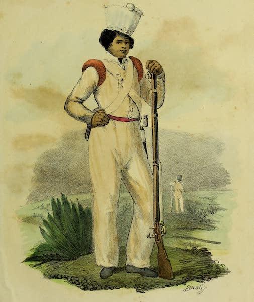 Costumes Civils, Militaires et Religieux du Mexique - Soldat en petit tenure (1828)