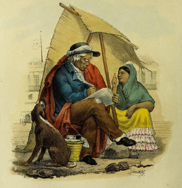 Costumes Civils, Militaires et Religieux du Mexique - Ecrivain public, sur la grand place a Mexico (1828)