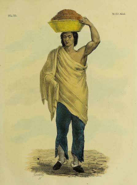 Costumes Civils, Militaires et Religieux du Mexique - Marchand de biscuits enveloppe dans un drap de lit (1828)