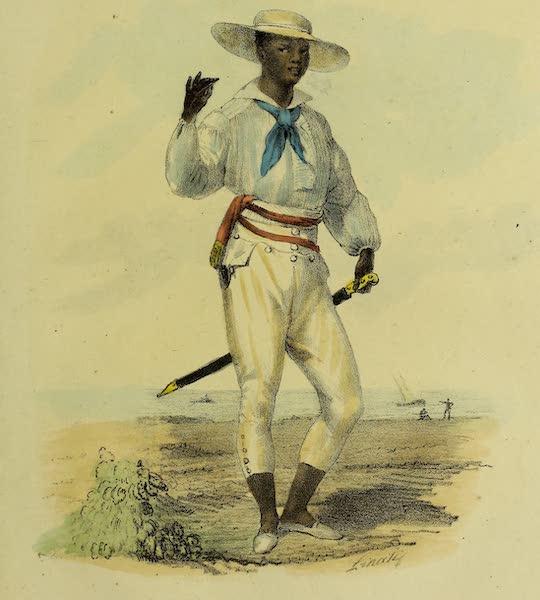 Costumes Civils, Militaires et Religieux du Mexique - Costeno. Negre des environs de Vera-crux (Santa Fe) dans son costumes de dimanche (1828)