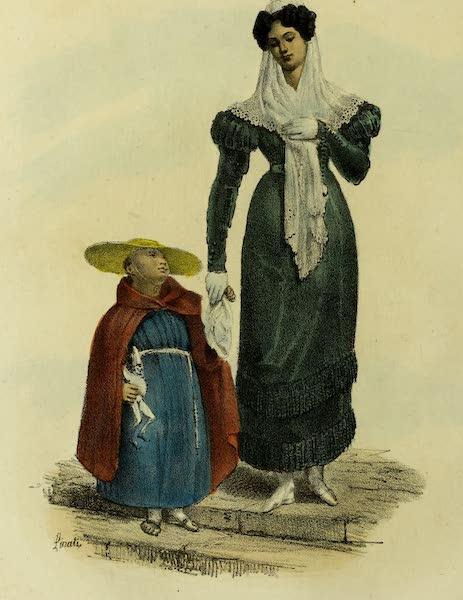 Costumes Civils, Militaires et Religieux du Mexique - Dame elegant a Mexico (1828)