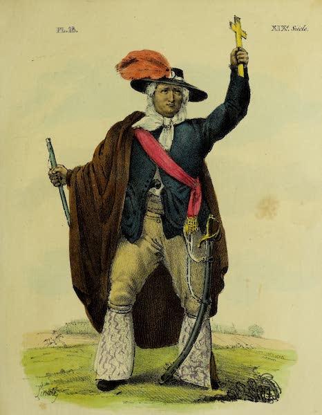 Costumes Civils, Militaires et Religieux du Mexique - Hidalgo (1828)