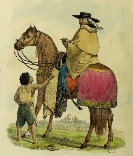 Costumes Civils, Militaires et Religieux du Mexique - Moine de la Merced en voyage (1828)