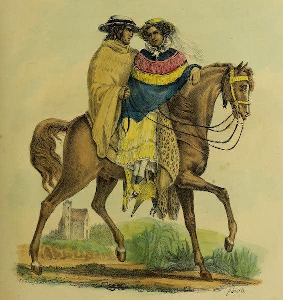 Costumes Civils, Militaires et Religieux du Mexique - Maniere de voyage des Dames au Mexique (1828)