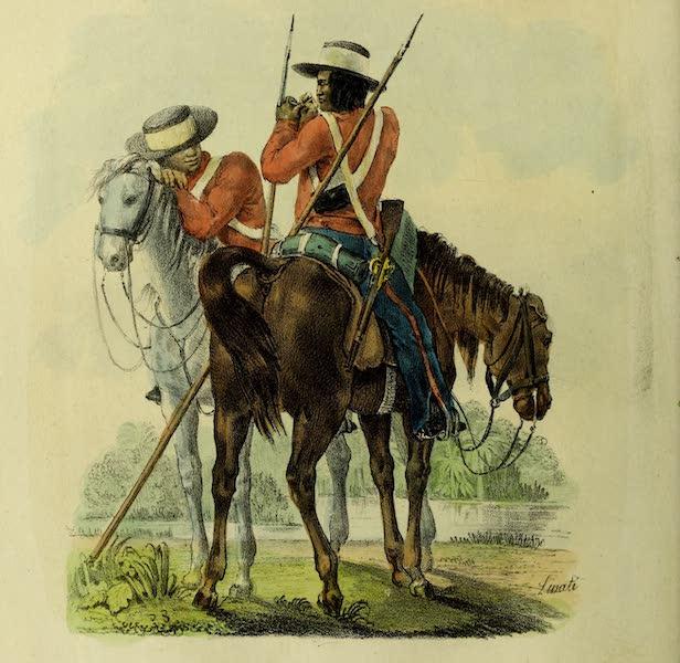 Costumes Civils, Militaires et Religieux du Mexique - Miliciens provinciaux de Guazacualco (1828)