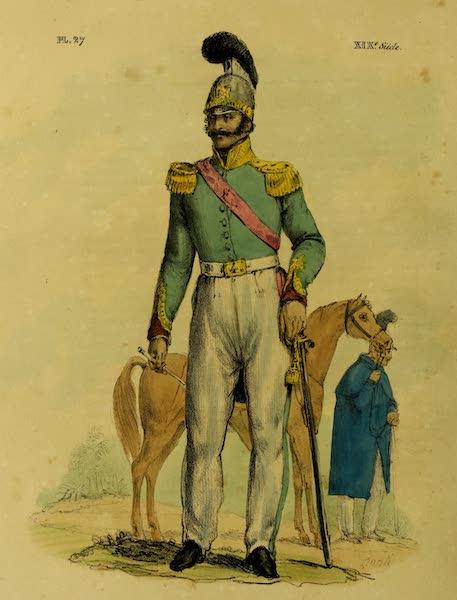 Costumes Civils, Militaires et Religieux du Mexique - Officier de Dragons. Nouveau Costume (1828)