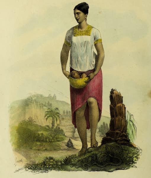 Costumes Civils, Militaires et Religieux du Mexique - Jeune fille de Palenque dans la province de Yacatan (1828)