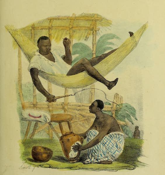 Costumes Civils, Militaires et Religieux du Mexique - Negre etendu dans son hamac (1828)