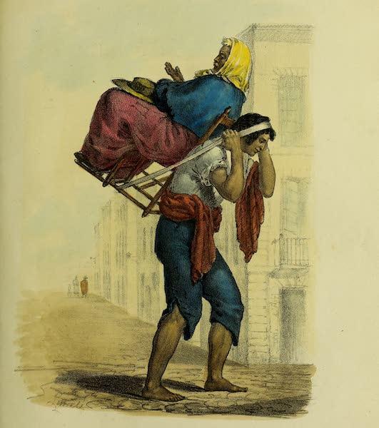 Costumes Civils, Militaires et Religieux du Mexique - Maniere de porter des mendicans, pour exciter la pitie (1828)