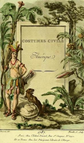 Aquatint & Lithography - Costumes Civiles Vol. 4 - Amerique