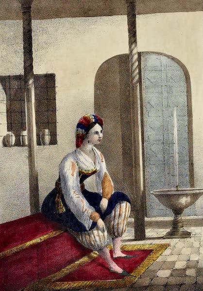 Costumes, Moeurs et Usages des Algeriens - Femme Maure a la Maison (1837)