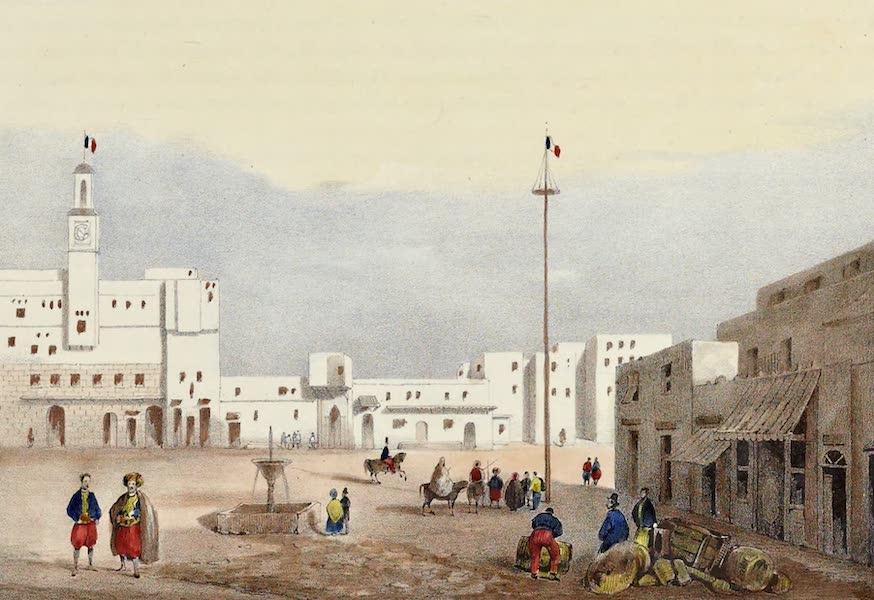 Costumes, Moeurs et Usages des Algeriens - Vue d'une partie de la Place d'Alger (1837)