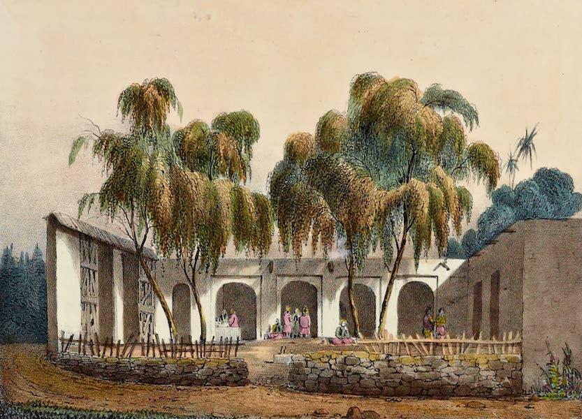 Costumes, Moeurs et Usages des Algeriens - Cafe Maure pres du Consulat d'Espagne a Alger (1837)
