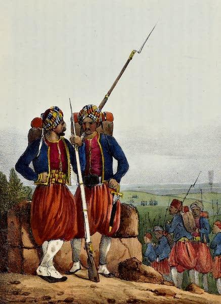 Costumes, Moeurs et Usages des Algeriens - Zoaves (1837)