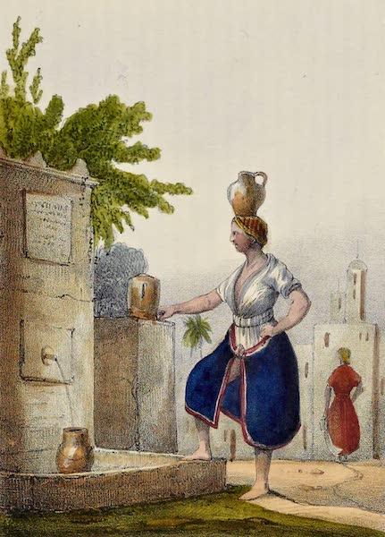 Costumes, Moeurs et Usages des Algeriens - Mauresque a la Fontaine (1837)