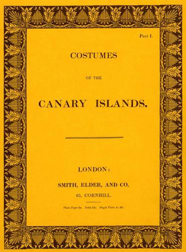 Aquatint & Lithography - Costumes of the Canary Islands