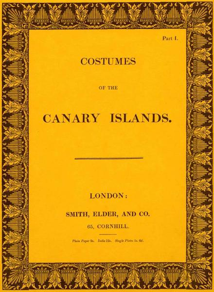 Costumes of the Canary Islands - Front Cover (1829)