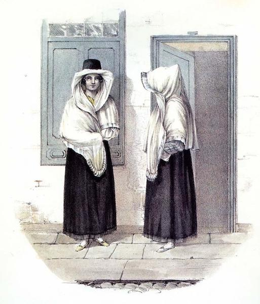 Costumes of the Canary Islands - Tapadas or Walking Dress Canaries (1829)