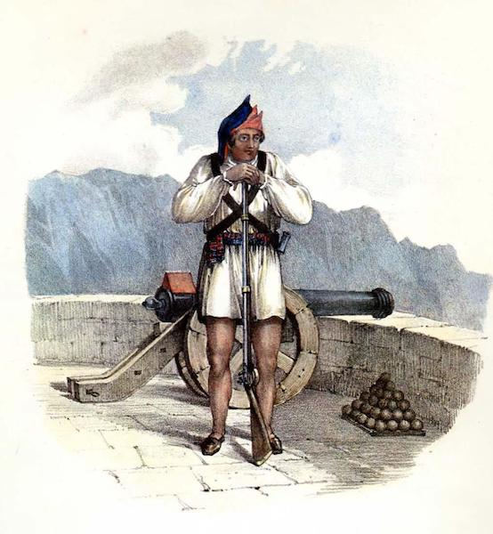 Costumes of the Canary Islands - Militiaman of Grand Canary (1829)