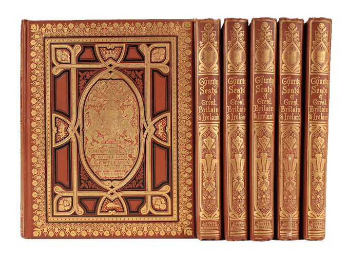 County Seats of Great Britain and Ireland Vol. 1 - Book Display II (1880)