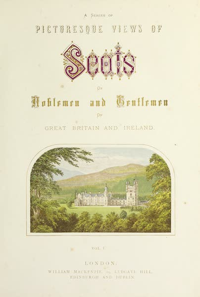 County Seats of Great Britain and Ireland Vol. 1 - Illustrated Title Page (1880)