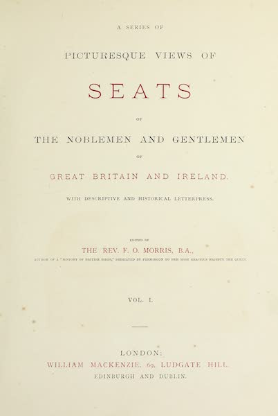 County Seats of Great Britain and Ireland Vol. 1 - Title Page (1880)
