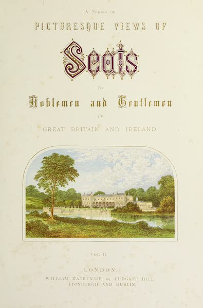 County Seats of Great Britain and Ireland Vol. 2 - Illustrated Title Page (1880)