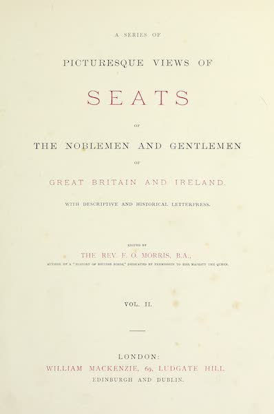 County Seats of Great Britain and Ireland Vol. 2 - Title Page (1880)