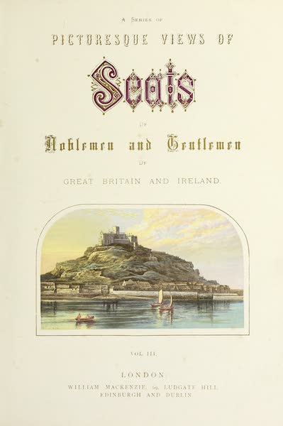 County Seats of Great Britain and Ireland Vol. 3 - Illustrated Title Page (1880)